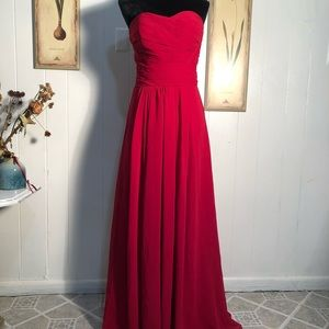 Red ball gown prom dress size 4 Kanalik formal
